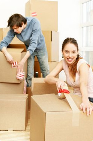 Borrowers who have just purchased their new property and are packing boxes