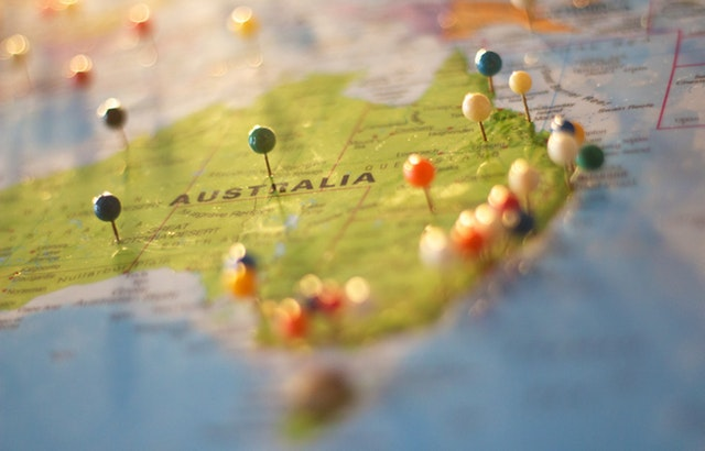 An Australia-wide map showing all the places where our mortgage broker service is provided